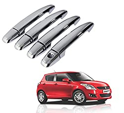 Auto Pearl - Chrome Door Handle Latch Cover - Maruti Suzuki New Swift