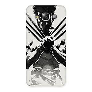 Radiant Ready for Wolf Back Case Cover for Galaxy E7