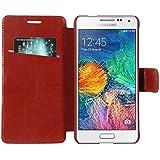 Armor Samsung Galaxy Alpha G850F Case Cover : Armor Slim Leather Wallet Book Case Flip Cover For Samsung Galaxy...