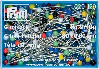 Glass-headed Pins Prym 30 x 0,60mm
