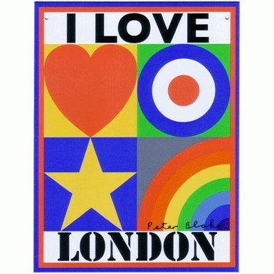 I Love London by Peter Blake (Limited Edition Print)