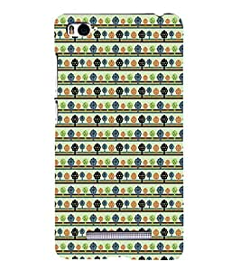 iFasho Animated Pattern colrful tribal design with small trees Back Case Cover for Redmi Mi4i