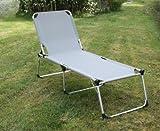 XL-Dreibeinliege Gartenliege klappbar Sonnenliege Campingliege Klappliege