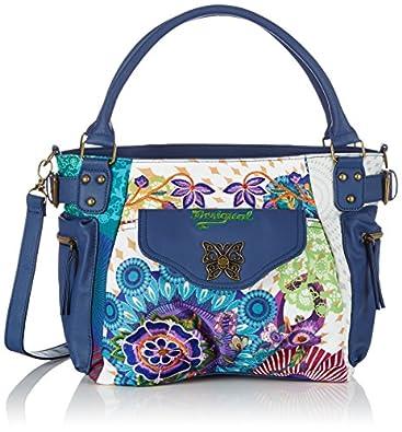 Desigual Mcbee Floreada Woven Cross Body Bag, Blue, One Size: Handbags