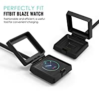 Fitbit Alta Charger, MoKo Replacement USB Charger Charging Cradle Dock Cable Adapter with 10.8 Inch (275mm) Cable Length for Fitbit Alta Smart Fitness Tracker, BLACK by MoKo