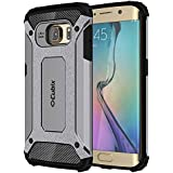 Cubix Impact Hybrid Armor Defender Case For Samsung Galaxy S6 EDGE (Grey)