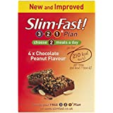 SlimFast Chocolate Peanut Meal Bar 56 g - Pack of 4