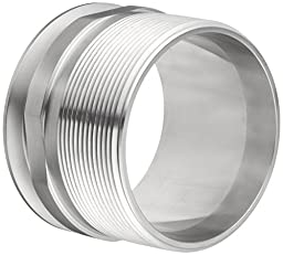 Dixon 21MP-G400 Stainless Steel 304 Sanitary Fitting, Clamp Adapter, 4\