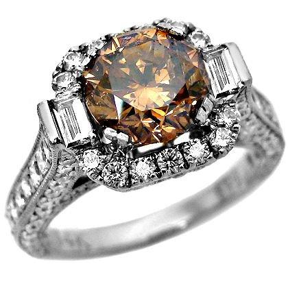 3.53ct Chocolate Brown Diamond Engagement Ring
