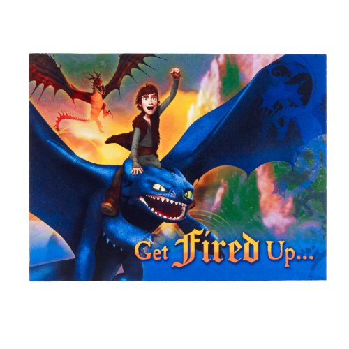 How To Train Your Dragon Invitations (8 count)