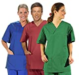 clinicfashion OP-Schlupfhemd, königsblau, Unisex für Damen und Herren, Größe M