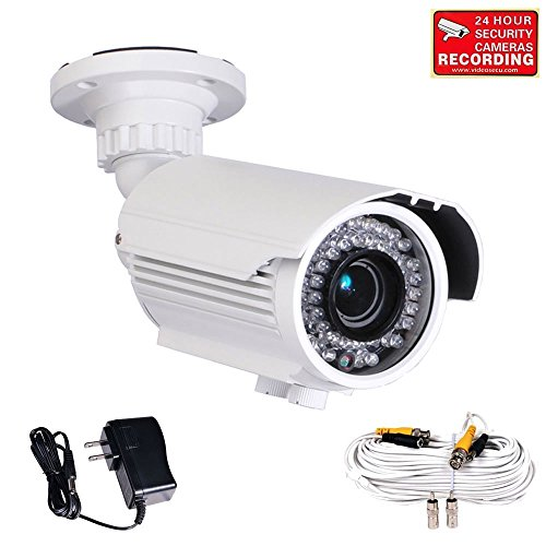 Videosecu 700Tvl Built-In 1/3'' Sony Effio Color Ccd Security Camera Day Night Vision Ir Zoom Focus Weatherproof Outdoor High Resolution 42 Infrared Leds 4-9Mm Vari-Focal Lens For Cctv Dvr Home Surveillance System With Power Supply And Extension Cable Bty