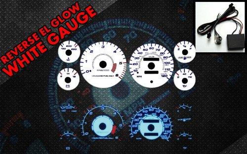 Brand New White Face Blue Indigo Reverse Glow Gauges For 94-97 Dodge Ram 1500/2500/3500 (I-110)