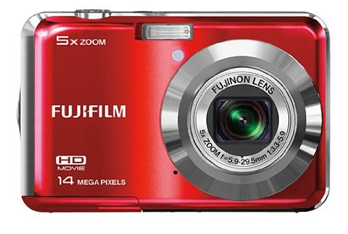 51G4YKi 8yL Fujifilm FinePix AX600 compact Digital camera 14 MP 5x optical zoom (Red)