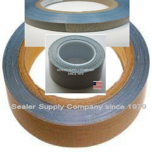 Heat-Tape-PTFE-10-yds-Length-x-34-Width-3-mil-Thick-Brown-Acrylic-adhesive-Teflon-PTFE-Glass-Cloth-Backing-Adhesive-TapeSHRINK-WRAP-Machines-Printers