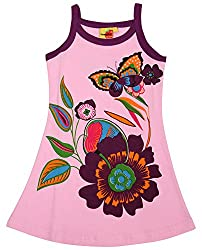 Tomato Girls' Regular Fit Frock (SH 78, Multi-Coloured, 7 Year)