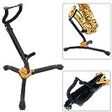 Gutsdoor Sax Stand Foldable Alto/Tenor Saxophone Stand Adjustable Metal Triangle Base Design