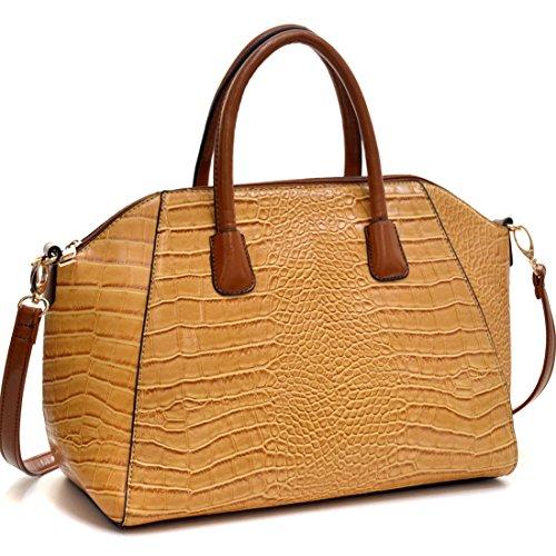 dasein-croco-leather-weekender-laptop-tablet-ipad-bag-satchel-briefcase-shoulder-handbag-purse-with-