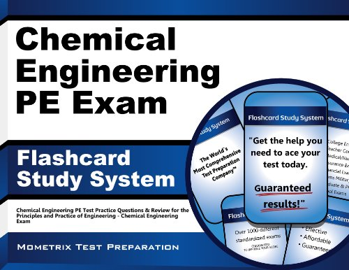 Chemical Engineering PE Exam Flashcard Study System: Chemical Engineering PE Test Practice Questions & Review for the Principles and Practice of Engineering - Chemical Engineering Exam (Cards) (Chemical Engineering Books compare prices)