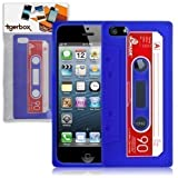 Tigerbox Flexible Silicone Retro Cassette Tape Style Skin Cover Case for Apple iPhone 5 / 5s - Blue