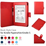 Elsse Premium Case For Amazon Kindle Paperwhite and All-New Kindle Paperwhite (Styli NOT included) (Support Smart Cover Function) (Paperwhite, Red)