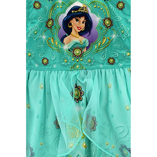 Disney princess girls fantasy nightgown pajamas 4 jasmine green apparel accessories clothing - Robe jasmine disney ...