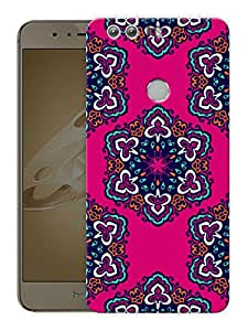 """Indian Rangoli Ethnic PatternPrinted Designer Mobile Back Cover For """"Huawei Honor 8"""" (3D, Matte, Premium Quality Snap On Case)"""