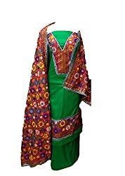 Lov Kush Unstiched Salwar Suit (Green)-Unique Wedding Collection