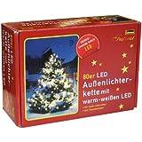 Idena 8325058 LED Lichterkette 80er mit warm weißen LED, für innen und außen