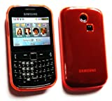 Flash Superstore Samsung S3350 Chat 335 LCD Screen Protector And Plain Pattern Gel Skin Cover Orange