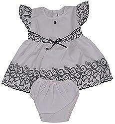 Be BeBo Girl's cotton Regular Fit Dress (537, Black, 12-18 months)