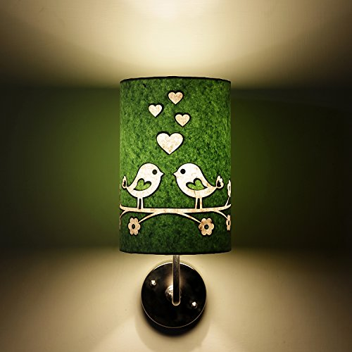 Love bird green and white modern decorative lamp