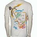 (エヴァー)ever・スカジャン風刺繍スーベニア半袖白Tシャツ[並行輸入品]