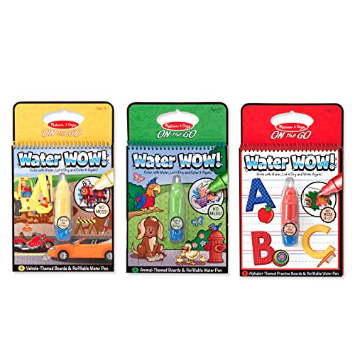 Melissa & Doug On the Go Water Wow! Water Reveal Pads Set: Vehicles, Animals, Alphabet (Drawing Books On Letters compare prices)