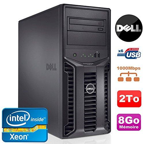 Serveur DELL PowerEdge T110II Xeon Quad Core E3-1220 3.1Ghz NR 8Go 2To DVD (Reconditionné Certifié)