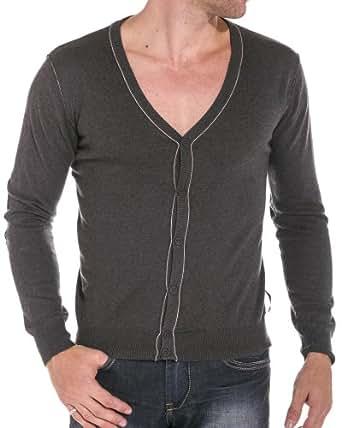Sixth June - Gilet homme gris anthracite - couleur: Gris - taille: XL