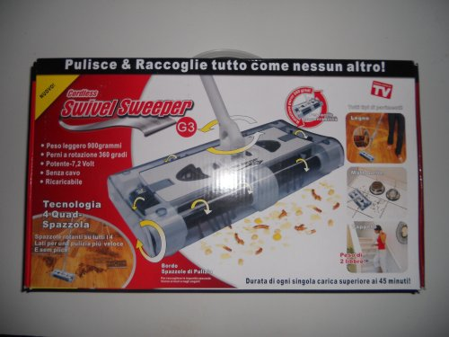 SWIVEL SWEEPER G 3 CORDLESS CON 3 LED PER PULIZIE NOTTURNE
