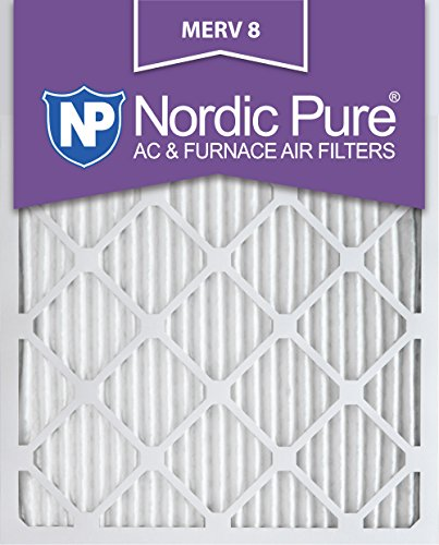 Nordic Pure 14x20x1M8-6 MERV 8 Pleated AC Furnace Air Filter, 14x20x1, Box of 6 (Furnace Filter 20x14 compare prices)