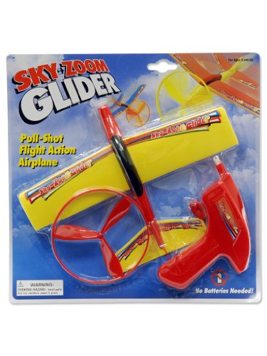 Sky Zoom Glider Pull-Shot Flight Action Aiplane