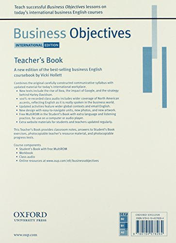 Business Objectives International Edition: Business Objectives: Teacher's Book International Edition