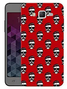 "Humor Gang Skull Man Red Printed Designer Mobile Back Cover For ""Samsung Galaxy J5"" (3D, Matte, Premium Quality Snap On Case)"