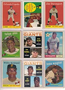 San Francisco Giants Rookie Card Parade (10) Card Baseball Lot from the 50
