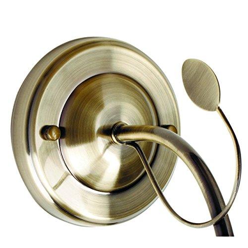 Applique style moderne, armature en métal couleur nickel, plafonniers en forme de fleurs en verre 1 ampoule E14 1x60W 230V