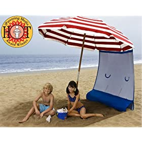 ezShade - NEW!! The Only UPF 50+ Portable CURTAIN that INSTANTLY ATTACHES to ANY Umbrella or Canopy - WEIGHS ONLY 9 OZ