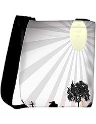 Snoogg Sun Rays Designer Womens Carry Around Cross Body Tote Handbag Sling Bags