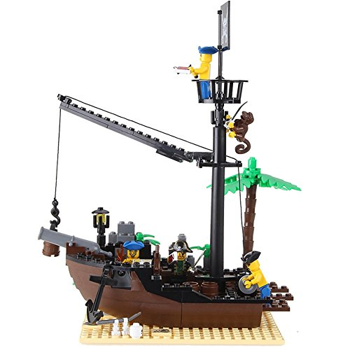 Enlighten-Simple-Package-Pirate-Series-Building-Bricks-Wrecked-Ship-Building-Blocks-Set-for-Kids-Broken-Shipyard-Ship-Corsair-Boat-Toy-178-pieces