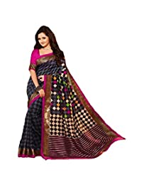 Sky Global Women's Multi Colour Bhagalpuri Silk Saree With Unstitched Blouse (Multi Colour_Silk_Saree_1152)
