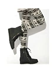Womens Knitted Legging Tights Multi patterns
