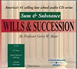Sum & Substance Audio on Wills & Succession, Third Edition (Sum & Substance) (English and English Edition)