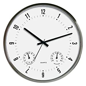TechnoTrade WT 7980, Negro, Blanco, 330 mm, 330 mm - Reloj de pared
